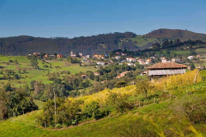 Casa rural en aldea asturiana. Hasta 9 personas