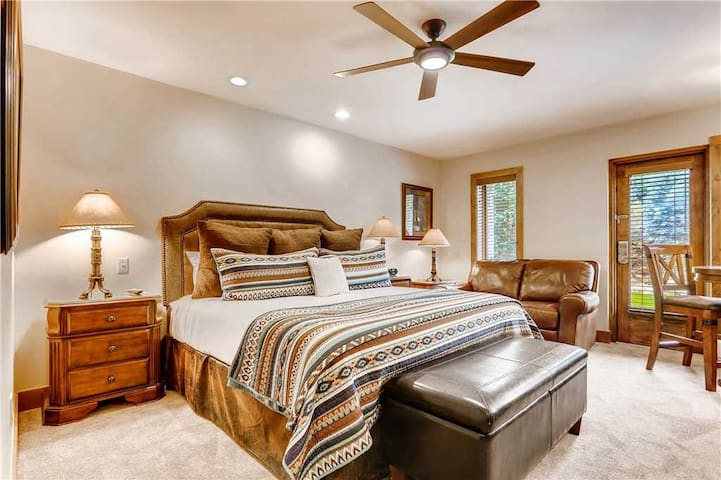 Lodge room with mountain view, shared pool & hot tubs and ski-in/ski-out access