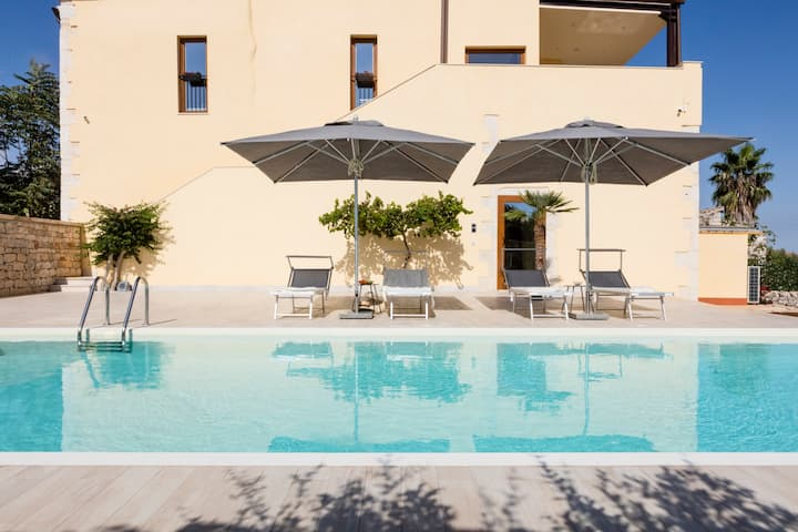 Atem Villa Sicily, Private House, Spa and Pool