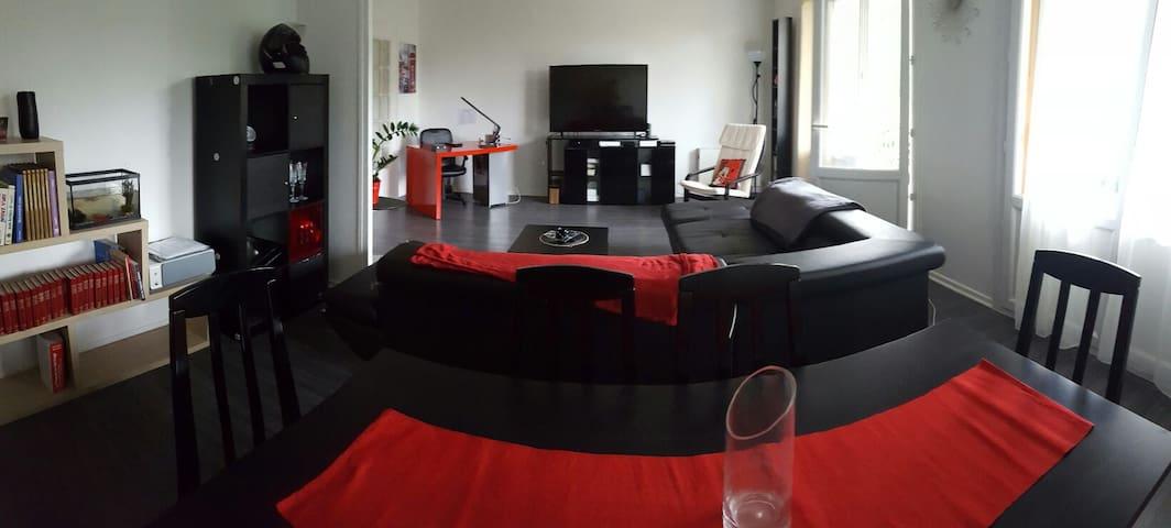 T4 av balcon et garage Proche du centre ville - Lyon - Apartamento