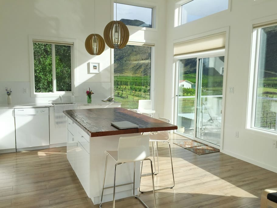 Stunning views through the beautiful floor to ceiling windows. Siding doors to your private deck