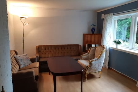 Rolig leilighet 22 kilometer fra Kristiansand.