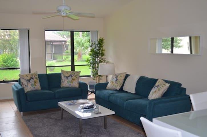 Open living room/dining room