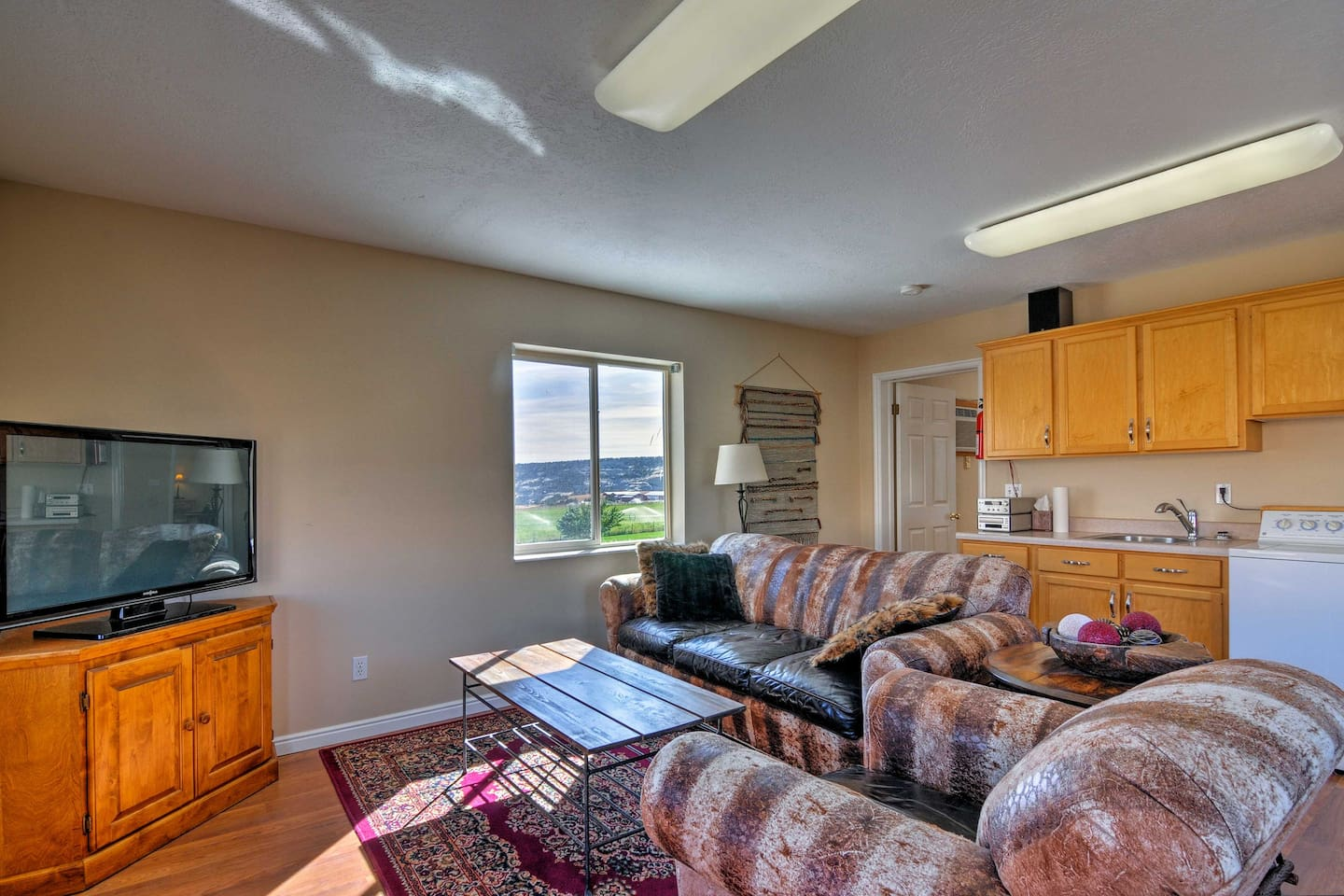 This renovated barn apartment sleeps 2 guests on a peaceful, operating ranch!