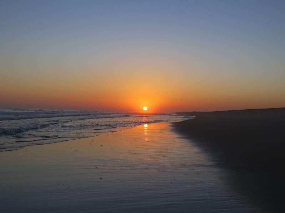 Sunset on 'our' beach, December.