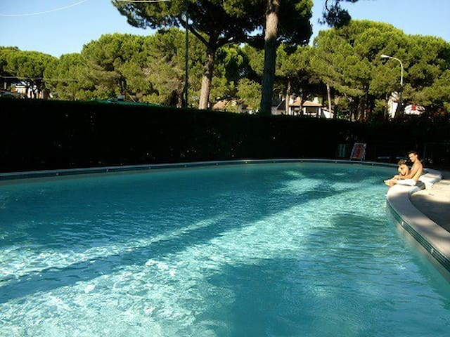 Monolocale con clima  in residence con piscina - Lido di Spina