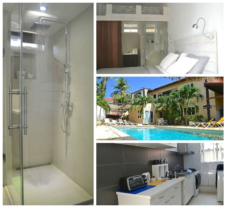 Newly built room next to the pool and kitchenette