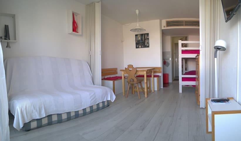 Phénix residence, view valley, balcony, 2nd floor - Villarembert - Lägenhet