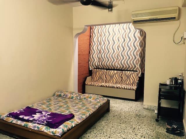 One spacious room in an archaic apartment