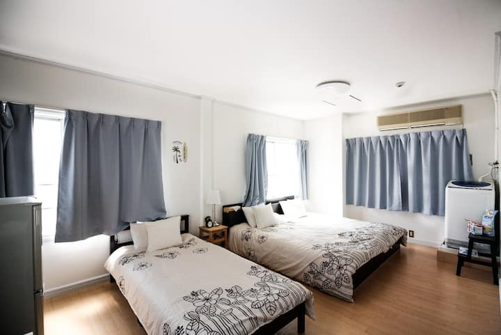 4Large room near Subway, 5min-USJ/13min-umeda