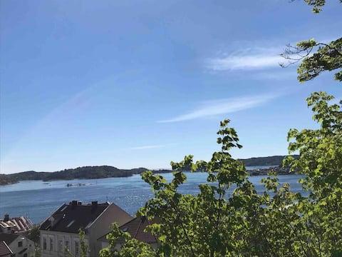 Sentrum - usjenert, idyll m fantastisk havs-utsikt