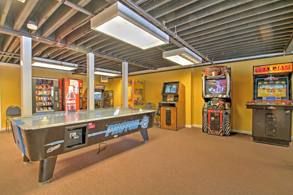 The kids will love spending time in the game room!