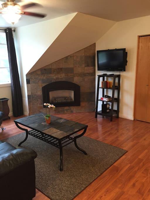 Gas Fireplace & HDTV!
