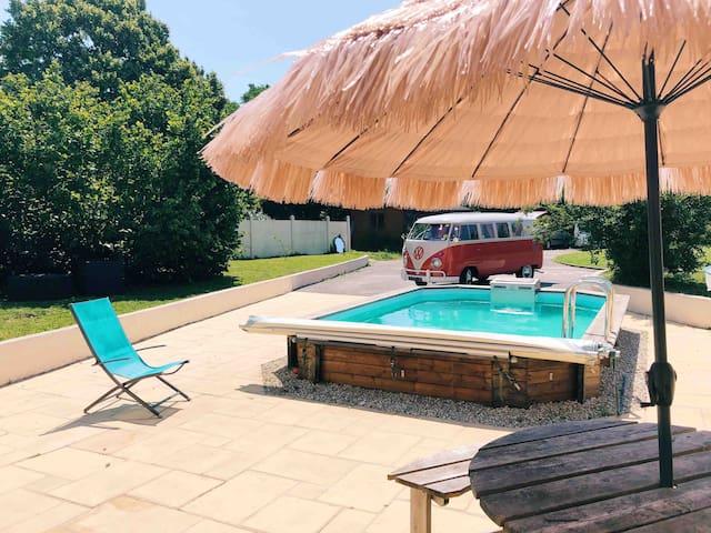 Villa 240m2, piscine, 15 min Nantes, 30 min mer