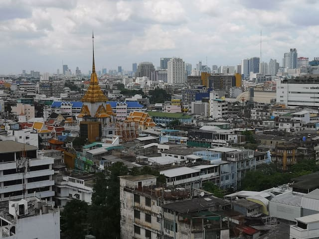 Temple of Golden Buddha view - not to be missed.