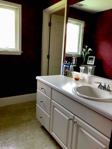 Your private sink and vanity.