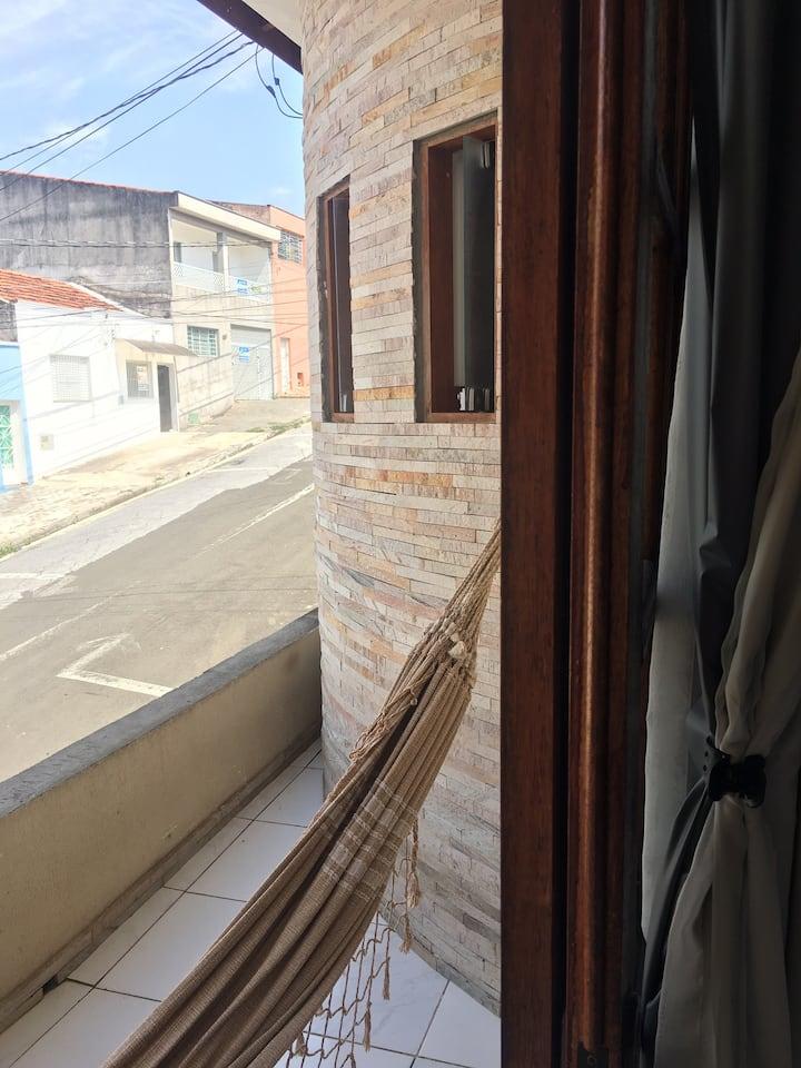 Quarto suite casal com varanda