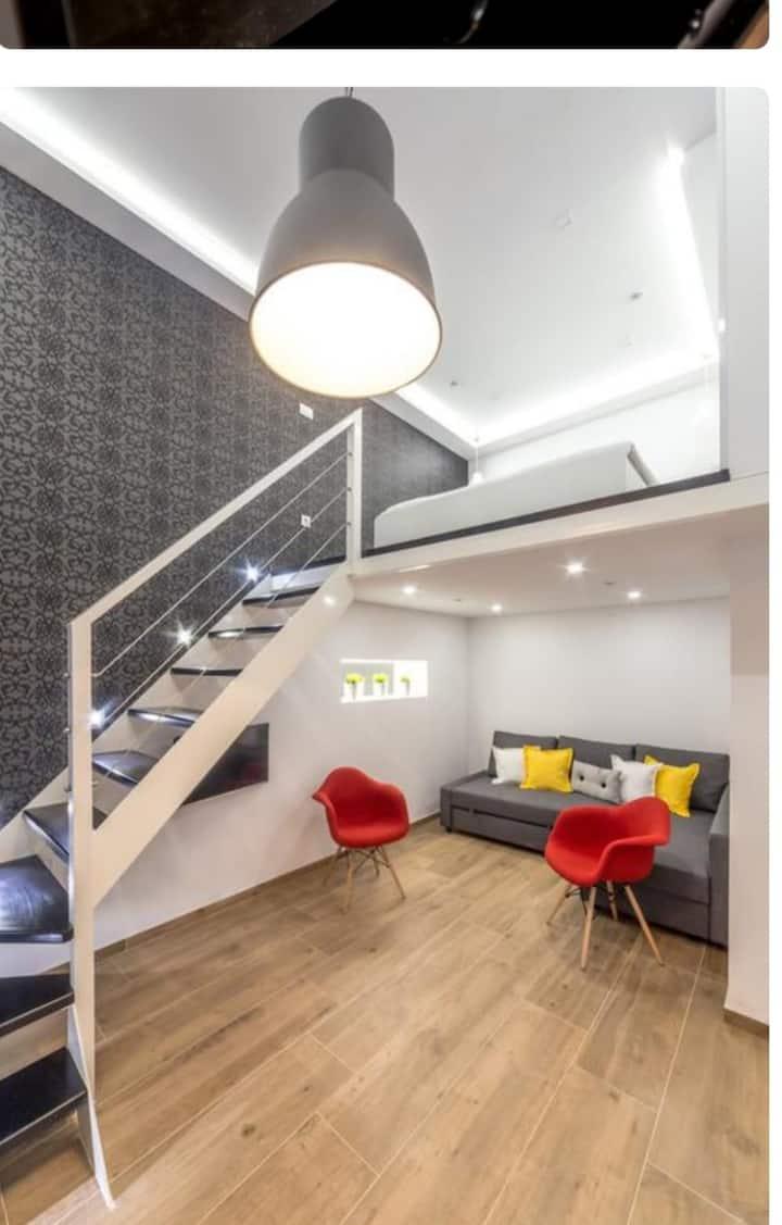 Modern Two-Level Apartment Near City Center