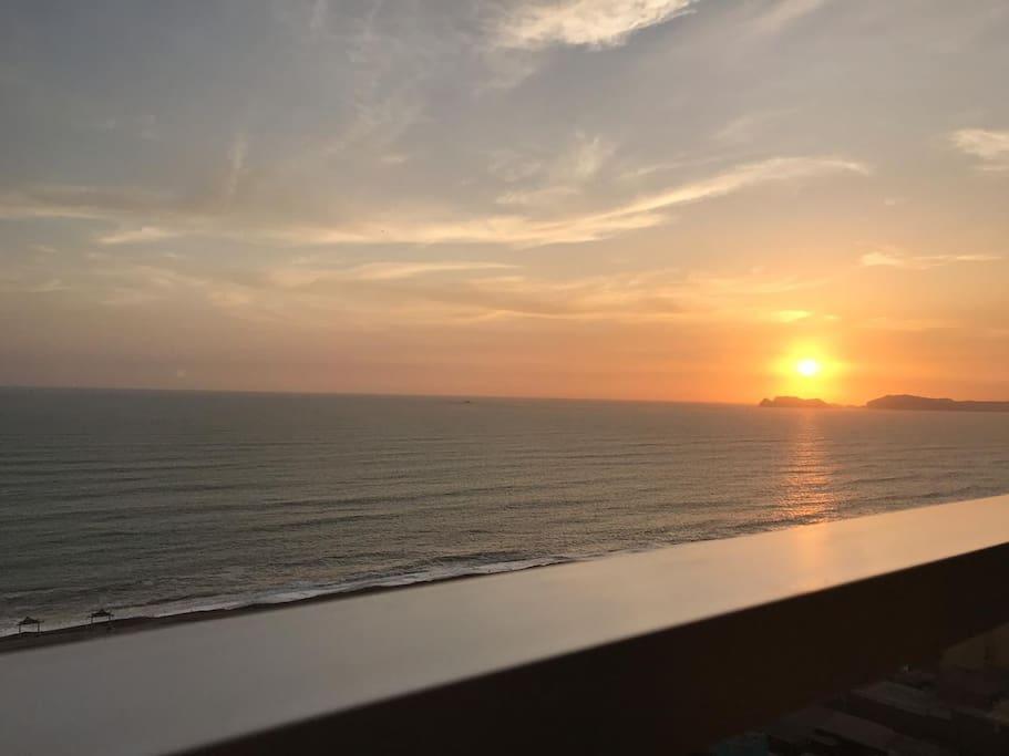 Sunset from Master Bedroom Balcony