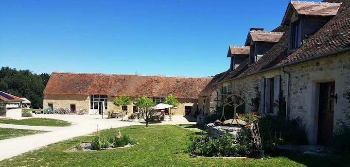 Holiday park at medieval monastery farm