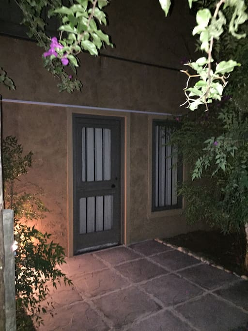Private entrance with own private patio