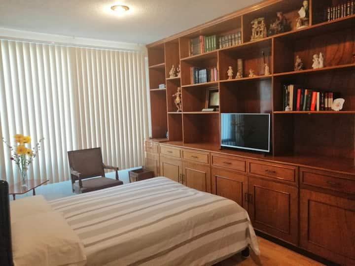 Habitación cómoda D, como sí estuvieras en casa.
