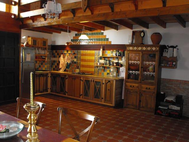 La casa de Tila (Sauna, arte y confort en madera). - La Aldea de San Nicolás  - Dom