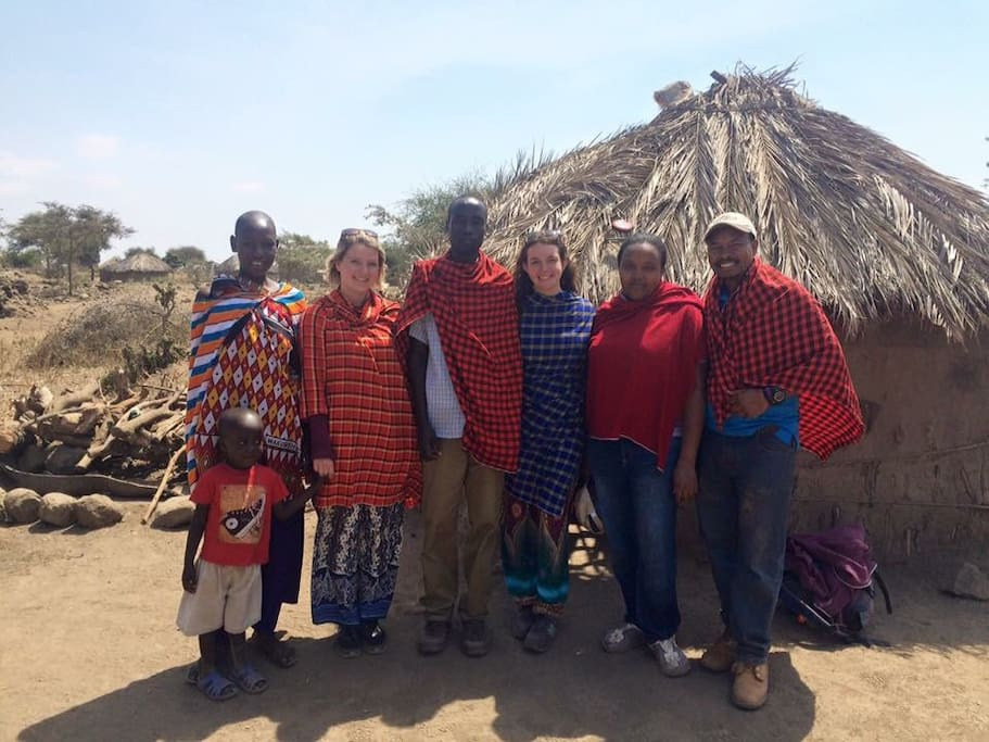 A little tours for our customers with Frank in Maasai land -Rundugai near Chemka hot spring , Yes we do offer adventures too