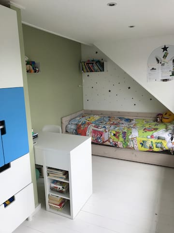 Bedroom 2 with two single beds (second bed is located under first  bed)