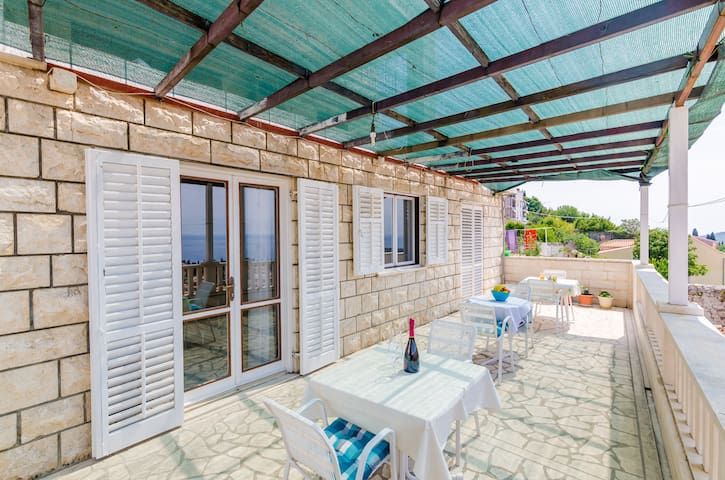 Rooms Nikola - Double Room with Terrace & Sea View