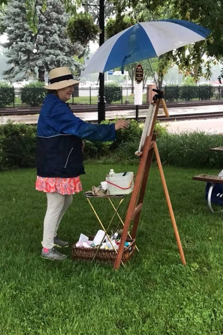 Painting away!