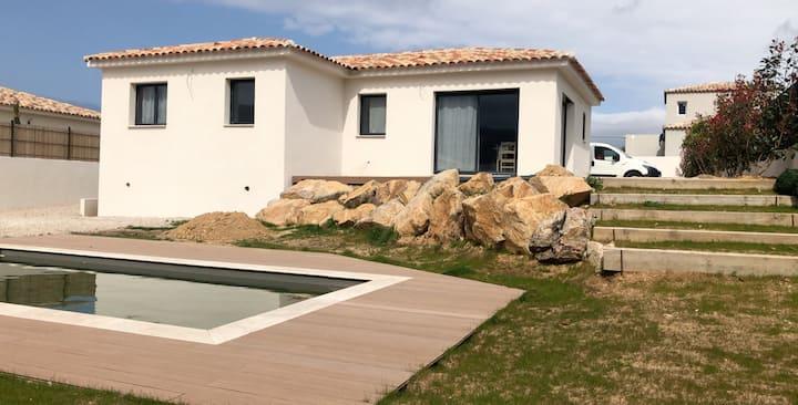 Maison/Villa neuve avec Piscine 3 chambres 6 pers