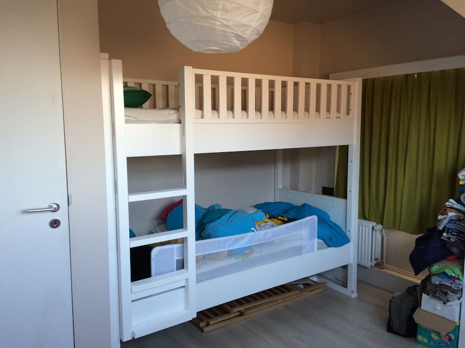 Room with a bunk bed (so for 1 or 2 people).