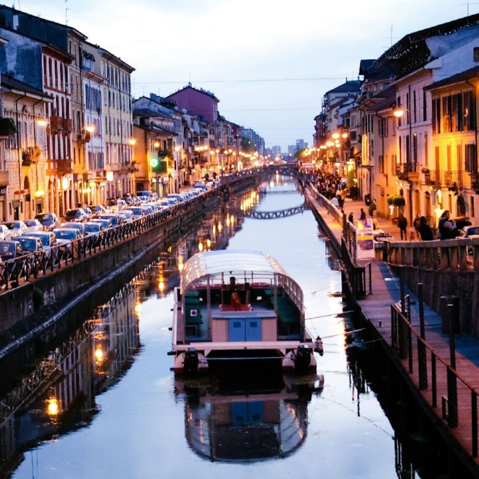 The Naviglio canal by night