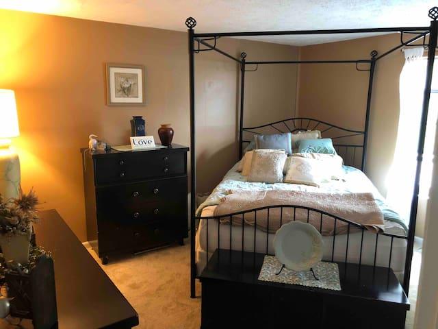 PRIVATE SLEEPING AREA,closet and dresser.