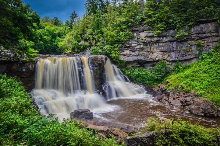 Blackwater Falls (10 minute drive)
