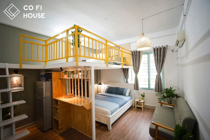 Co Fi Retro - Quiet & Safe Apt @ Ben Thanh market.
