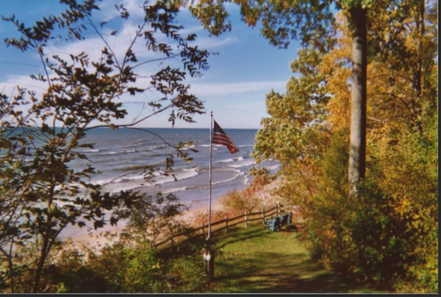 Overlooking our private beach on the shores of Lake Michigan