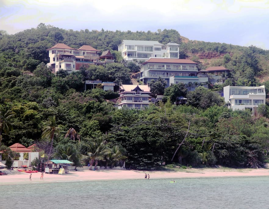 View of Villa from Tongson Beach