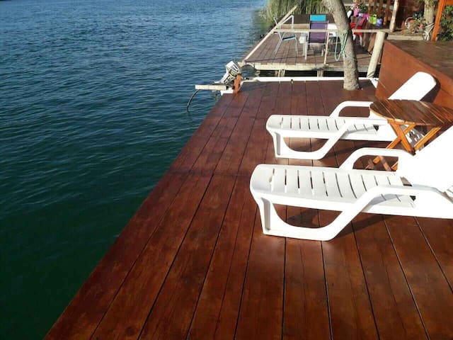 River deck, your own private beach.