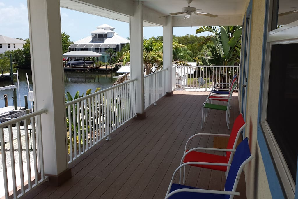 Large porch with water view