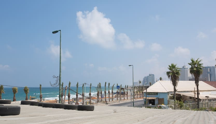 Beachfront duplex with seaside view
