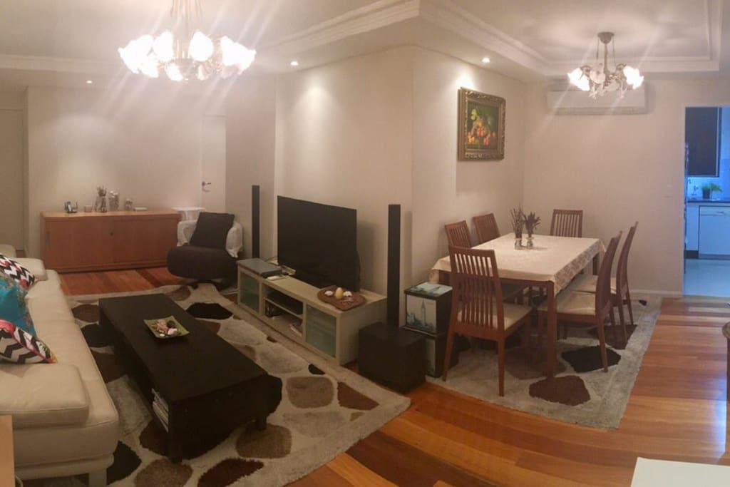 Generous open plan living with separate lounge and dining