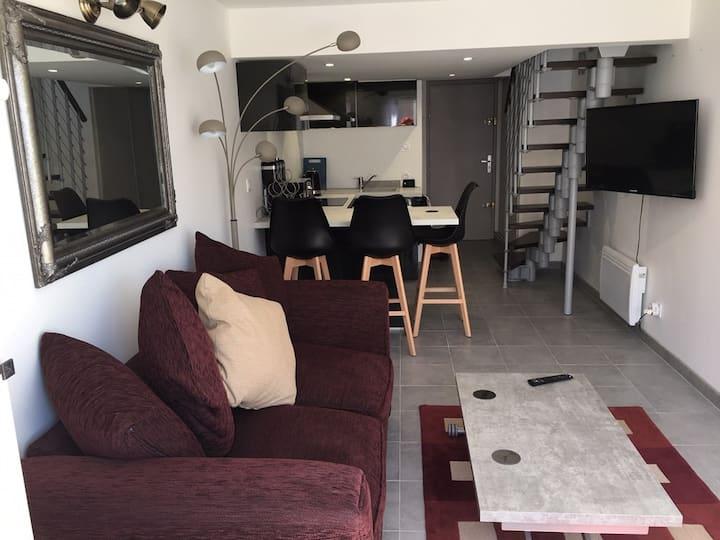 Appartement moderne, centre port, proche toutes commodités. Cap d'Agde