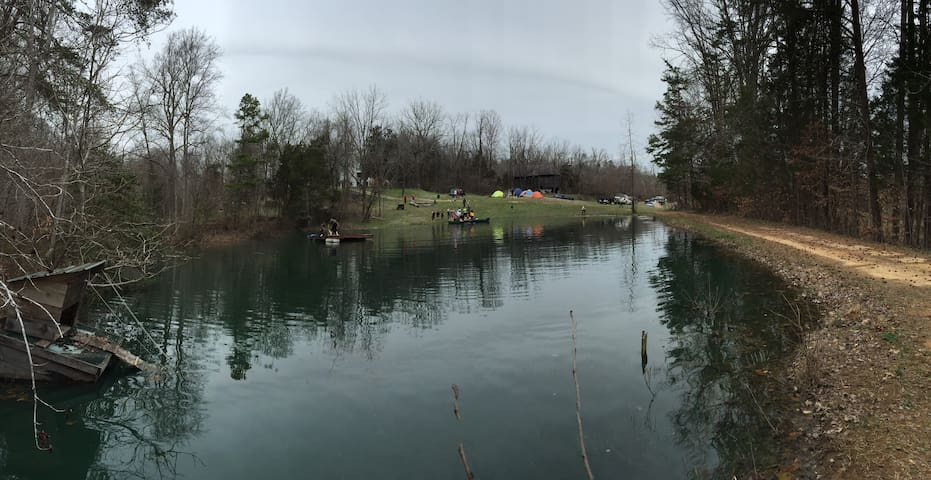 Loaded pond, guaranteed a catch during warm months!