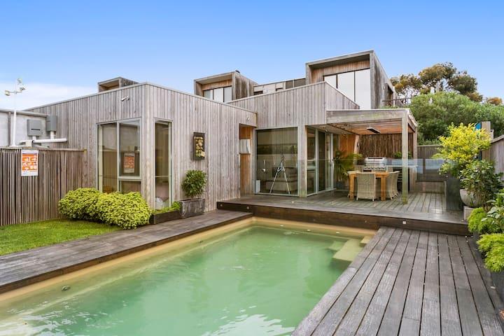Ocean Grove pool house with views - Ocean Grove - Casa