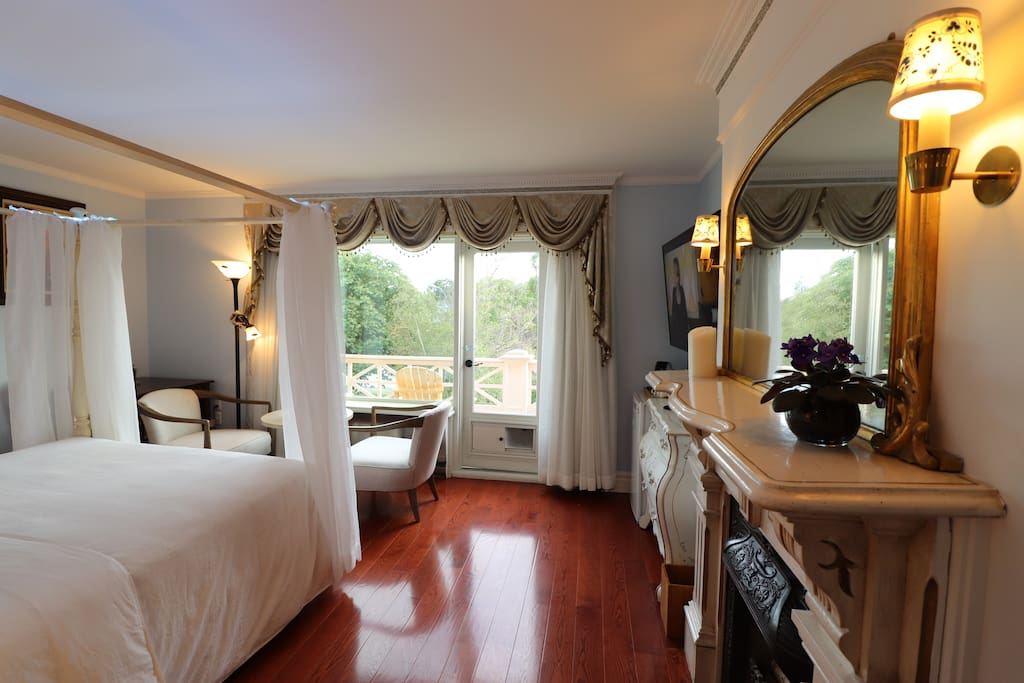 Panoramic waterfront views are very breathtaking from the 201 Room.