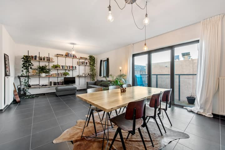 Green, spacious and bright appt in centre of Ghent
