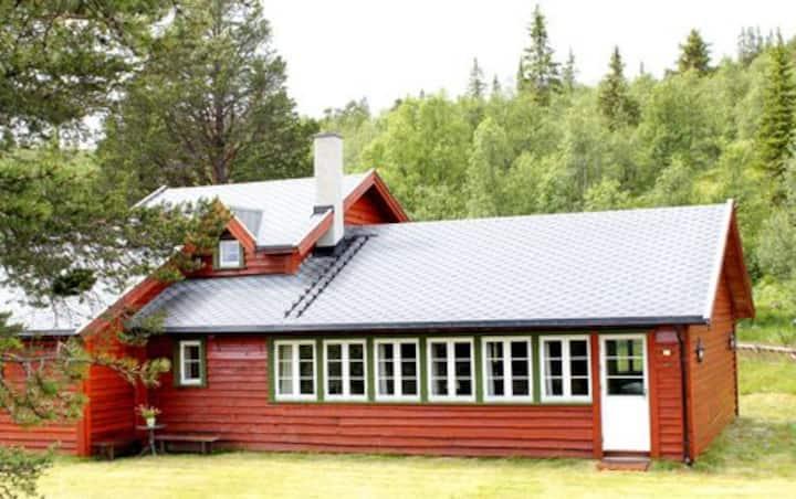 Raklidekkan Lodge, stor hytte til leie nær Geilo