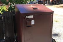 Bear safe trash box. You may be lucky enough to spot a bear :)